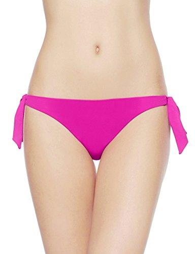 EONAR Mujer Braguita De Bikini Con Lados Cheeky Brasileños Tangas (XL,Magenta)