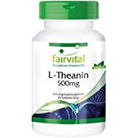 L-Theanin 500mg - für 2 Monate - VEGAN - HOCHDOSIERT - 60 Tabletten - Aminosäure preisvergleich bei fajdalomcsillapitas.eu