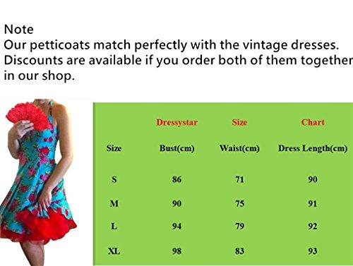 Dressystar Robe à 'Audrey Hepburn' Classique Vintage 1950S Style Sexy à col V Pourpre