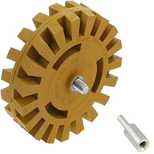 Pegatina adhesiva goma rueda 4 pulgadas adaptador