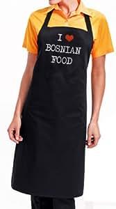 I Love bosniaque Tablier de Cuisine alimentaire de Bosnie-fantastic foodie gourmet avec emballage cadeau et les messages cadeaux service