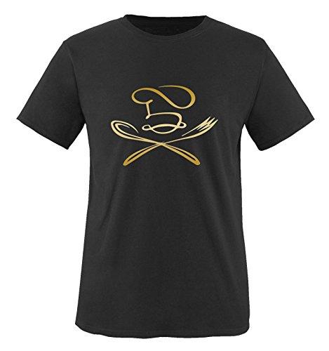 KOCH Motiv - Herren T-Shirt - Schwarz / Gold Gr. L (Koch-bekleidung)