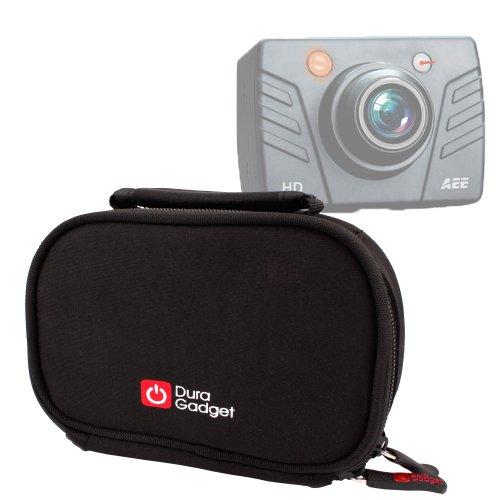 Housse de transport + poignée rembourrée pour PNJ Cam AEE SD18, SD19, AEE SD21 et AEE SD23 Mini Caméra de sport embarquée étanche/caméscope - résistant à l'eau