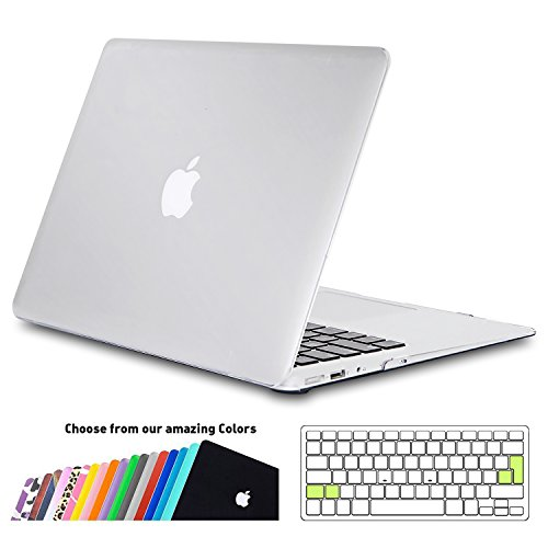 MacBook Air 13 zoll Hülle Case,iNeseon Slim Plastik Hartschale Schale Cover Zubehör mit EU Transparent Tastaturschutz Schutzhülle für Apple MacBook Air 13.3 Zoll Modell:A1466&A1369 (Matt Transparent) (11in Tablet-fall)