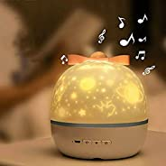 Dynamic Projection Lamp,LED Light Projector For Bedroom,6 Colors Mode Starry Sky Projector,With Built-in Music
