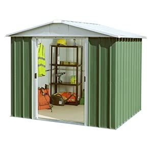 "41EUdkSl3kL. SS300  - Belfast 9'4"" x 7'5"" GEYZ Apex Metal Shed With FREE Anchor Kit"