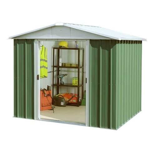 Belfast 9'4″ x 7'5″ GEYZ Apex Metal Shed With FREE Anchor Kit