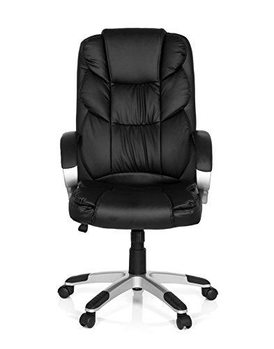 XXL Chefsessel mit Armlehne RELAX BY155 Kunstleder Schwarz Bürostuhl ergonomisch gepolstert 722300 MyBuero