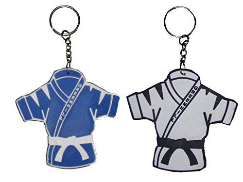 Green Hill Key Ring Judo (White, Standard)