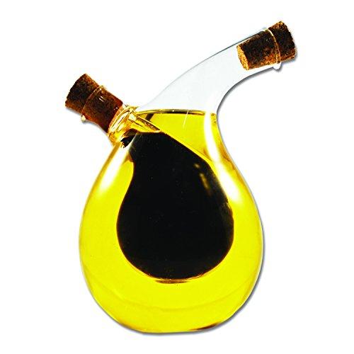 Komonee bottiglia per doppio erogatore di vetro per olio e aceto di oliva (vb4)