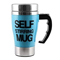 DFS's High Grade BIG SELF STIRRING MAX MUG AUTOMATIC for Tea, Coffee, Hot Chocolate, Soup For Boys, Girls and Teenage Cup Stainless Steel (Colors may vary)