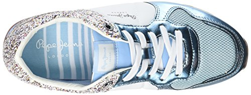 Pepe Jeans Verona W Glitter, Scarpe da Ginnastica Basse Donna Blu (Soho Blue)