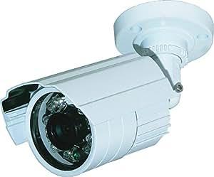 """Cam-série 700 TVL Sony 0,75 """"objectif fixe IP66 résistant aux intempéries avec Vision nocturne Caméra de vidéosurveillance Blanc"""