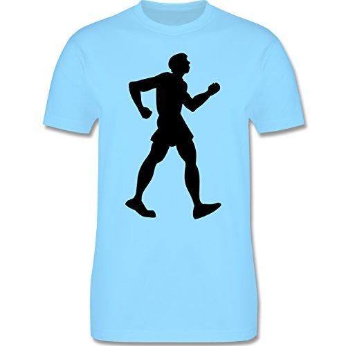 Laufsport - Walken - Herren Premium T-Shirt Hellblau