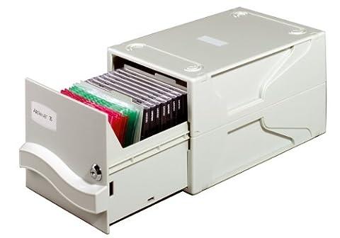 Durable 525610 Multimedia Box Coffret de Rangement Capacité 26 CD/DVD Gris Clair