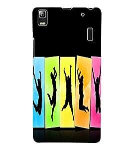 Fuson 3D Printed Dance Wallpaper Designer Back Case Cover for Lenovo K3 Note - D823