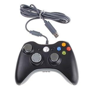 Althemax® Wired Xbox 360 USB-Spiel-Auflage-Steuerknüppel-Steuerpult für Xbox 360 oder PC Schwarz
