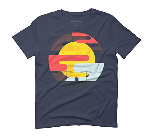 Kite in the sunrise Men's Graphic T-Shirt - Design By Humans Navy