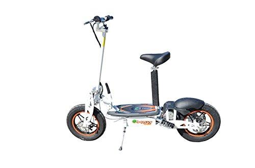 E-Scooter Scooter mit Sitz Elektro Elektroscooter Elektroroller Roller Klappbar 1000W 36V