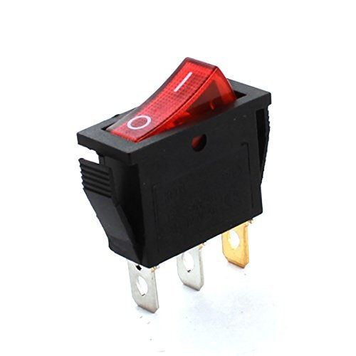 AC250V 15A AC125V 20A Red Light Snap In Rectangle knop Rocker Switch