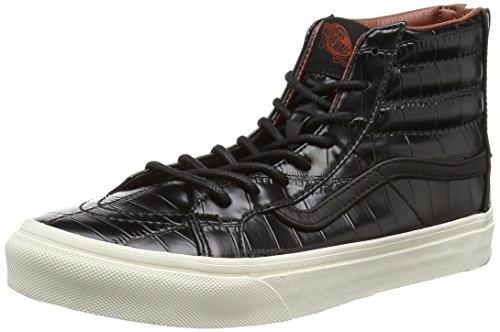 Vans Unisex-Erwachsene Sk8-Hi Slim Zip Sneaker Black (Croc Leather - Black)