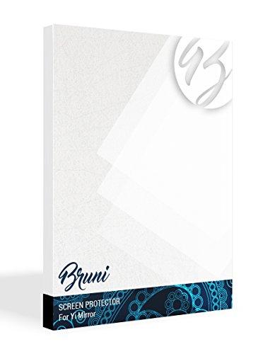 Bruni Película Protectora para Yi Mirror Protector Película, Claro Lámina Protectora (2X)
