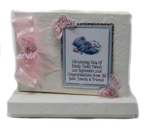 Livre d'or de baptême pour bébé fille personnalisé couverture fait main sur commande