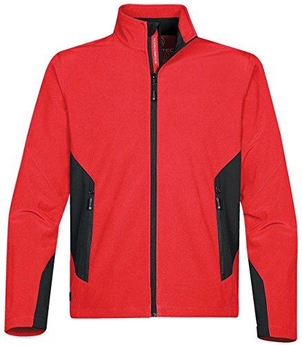 Stormtech Wasserdichte Pulse Softshell Leicht Sport Jacke Erwachsene Wasserdicht Reißverschluss oben - True Red/ Black