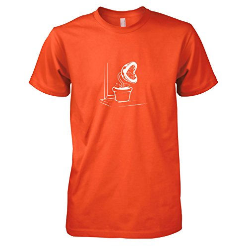 Super Kostüm Luigi Mario Maker - TEXLAB - Piranha Plant - Herren T-Shirt, Größe XXL, orange