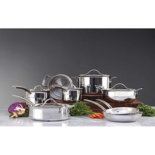 Stainless Steel Tri-Ply Clad Professional Quality Cookware Set - 13 Piece