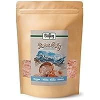 Biojoy Cristales de Sal Rosa del Himalaya | sal cristalina de Salt range | sal de roca gourmet, natural | sal cristalina 2-5mm en paquete cerrable para molino de sal (1 kg)