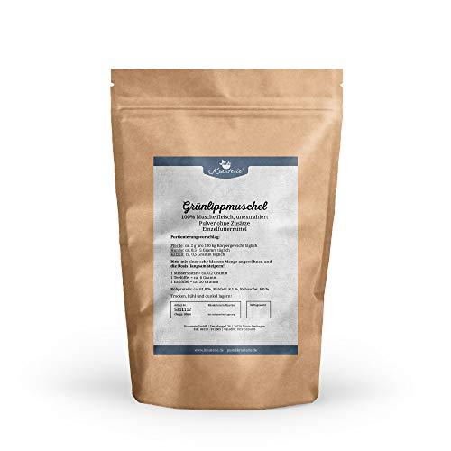 Grünlippmuschel in hochwertiger Qualität, frei von jeglichen Zusätzen, für Pferde, Hunde oder Katzen (Perna Canaliculus) - 100 g