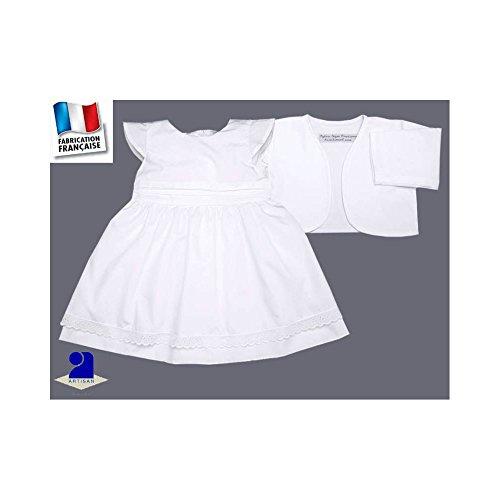 ebddc5cbf907 Poussin bleu - Robe et boléro baptême, cérémonie 0 mois-10 ans Made In