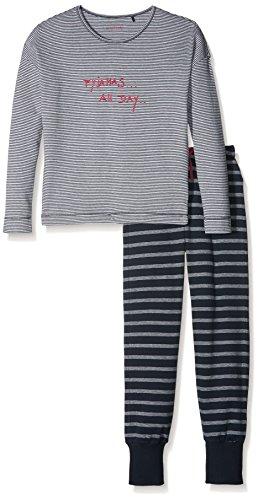 weiteiliger Schlafanzug Family Anzug Lang, Blau (Nachtblau 804), 152 (Herstellergröße: S) (Nachtwäsche Für Mädchen)