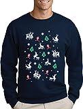 Green Turtle T-Shirts Witziges Geschenk Rentier Kama Sutra Ugly X-Mas Sweater Design Sweatshirt X-Large Marineblau
