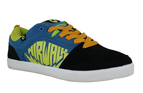 airwalk-mens-casual-skate-lace-up-padded-shoes-trainers-uk-8-chadwick-black-blue-yellow
