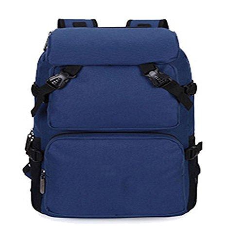 TBB-Zaino borsa a tracolla impermeabile capacità grande borsa da viaggio,Kaki grandi Cyan small