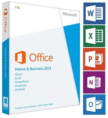 Microsoft Office 2013 Home & Business (Product-Key-Card) 32/64 Bit Multilanguage