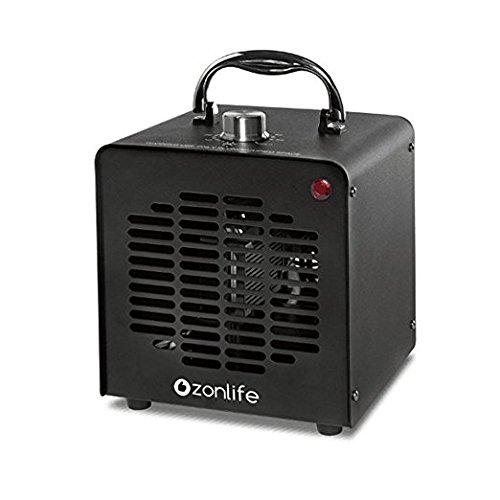 10,000mg/h Profi Ozongenerator einstellbar Timer Ozon Generator perfekt Luftreiniger für Ihr Auto Kücke Desinfektion Formaldehyd Reduzierung und geruchtilgend in Badezimmer usw schwarz