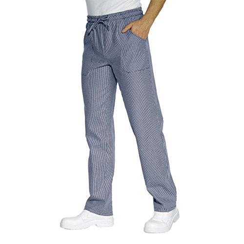Isacco - Pantalon Cuisinier Pied de Poule Bleu vienna Bleu