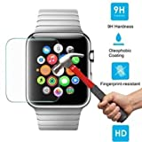 ikazen Round Edge 2.5 D Tempered Glass Screen Protector for Apple Watch iWatch 42 mm (Watch not included)
