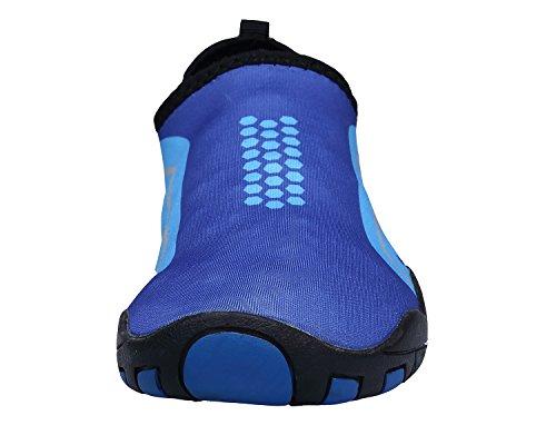 Bdawin Water Shoes Unisex Scarpe Acqua Rapida Asciugatura Pelle Scarpe Piedi Nudi per Spiaggia Nuotare Surf Yoga(Donna/Uomo/Ragazzo) Blu