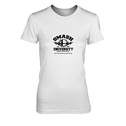 Smash University - Damen T-Shirt, Größe: XL, Farbe: - Smash Bros 3ds Kostüm