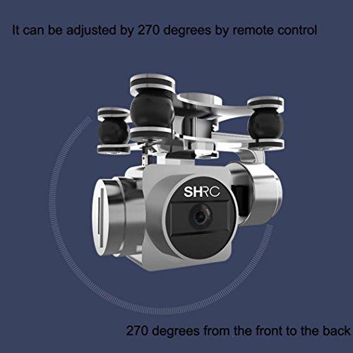 WYXlink RC Quadcopter 1080p Weitwinkel-Objektiv 270 Grad rotierende HD-Kamera Drohne FPV Geschenk (Schwarz) - 2