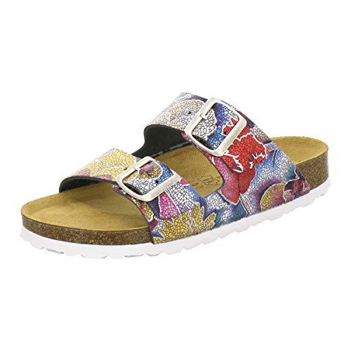 AFS-Schuhe 2100, Bequeme Damen Pantoletten echt Leder, praktische Arbeitsschuhe, Hausschuhe, Handmade in Germany Größe 40 EU Mehrfarbig (Multicolor)