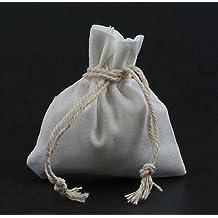 algodón Bolsa bolsa arpillera de pequeña 50 tela piezas