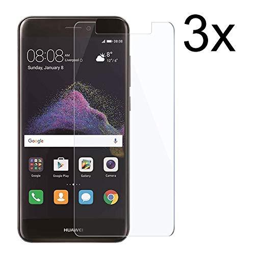 Cardana | 3X bruchsicheres Schutzglas für Huawei P8 Lite 2017 | Schutzfolie aus 9H Echtglas Next Generation | Schutzglas zur Vermeidung von Bildschirmschaden | blasenfreie Anbringung | 3 Stück