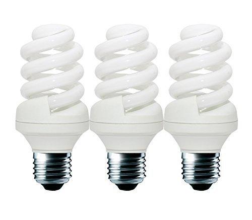 11W (= 65W) Energiesparend Spirale CFL 2700K warmweiß Farbe Leuchtmittel E27Edison Schraube ES Gap, 10Jahre, 10.000Stunden Kompaktleuchtstofflampe mit Pack Größen von Lowenergie Deckenleuchte, e27 11.0 wattsW