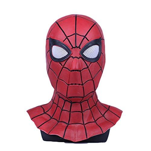 GanSouy Cosplay Maskerade Helm Halloween Maske Erwachsener Spider-Man Heimkehrmaske, Spiderman Hood Helm Comics Held Kopfbedeckung Kostüm Cosplay für Erwachsene und Jugendliche,Spider ()