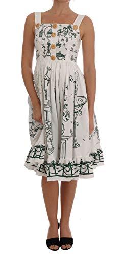White Unique Garden Front Dress - Dolce & Shift Gabbana